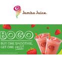 Jamba Juice 实体店:沙冰买一送一