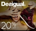 DNA Footwear: 20% OFF On Desigual's Fall Collection