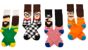 Sox & Co. 创意小人卡通袜子四双