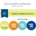 Christopher and Banks: Select Items From $10 + Extra $25 OFF $100