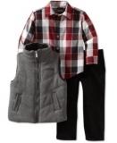 Kenneth Cole 男童背心+格子衬衫+裤子搭配套装