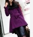 女式羊毛低领大衣