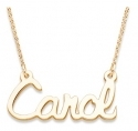 14K Gold over Sterling Script Name Necklace