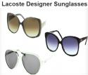 Groupon 团购网:Lacoste 设计师太阳镜
