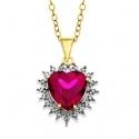 红宝石心形吊坠项链