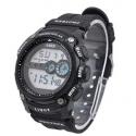 Men's Fashion 12 Digits Display Multi-function Sports Wrist Watch