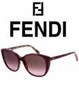 Fendi女士复古猫眼太阳眼镜