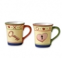 Villa Della Luna Key To My Heart Mugs, Set of 2
