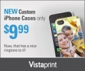 Vistaprint: Custom iPhone Cases 50% Off, from $9.99