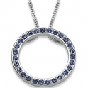 Sterling Silver Austrian Crystal Birthstone Circle Necklace $20.99