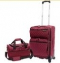 U.S. Traveler Quilted 2-piece Expandable Carry-On Spinner Luggage Set $45