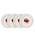 Country Cupboard Poinsettia Accent Plates, Set of 4
