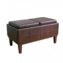 SONOMA life + style 皮质储物收纳沙发凳