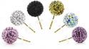 14K 施华洛世奇水晶元素镶嵌金耳钉只需$14.99