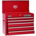 Craftsman 5-Drawer Red Ball-Bearing GRIPLATCH Top Chest 工具柜