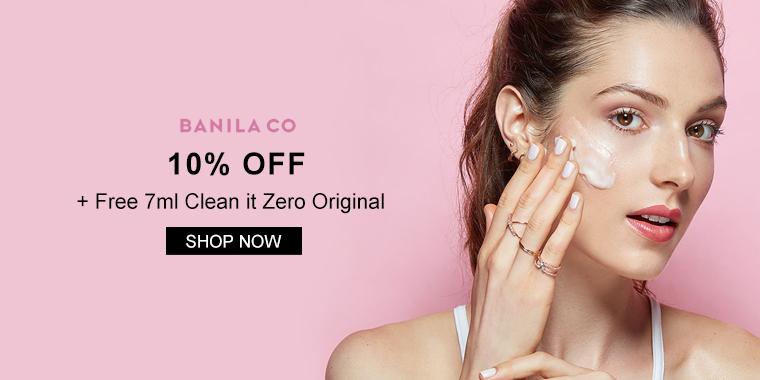 Banila: 10% OFF + Free 7ml Clean it Zero Original