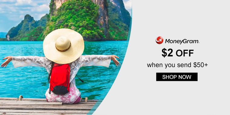 MoneyGram: $2 off when you send $50+