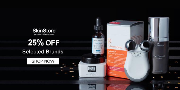 Skinstore: 25% OFF Selected Brands