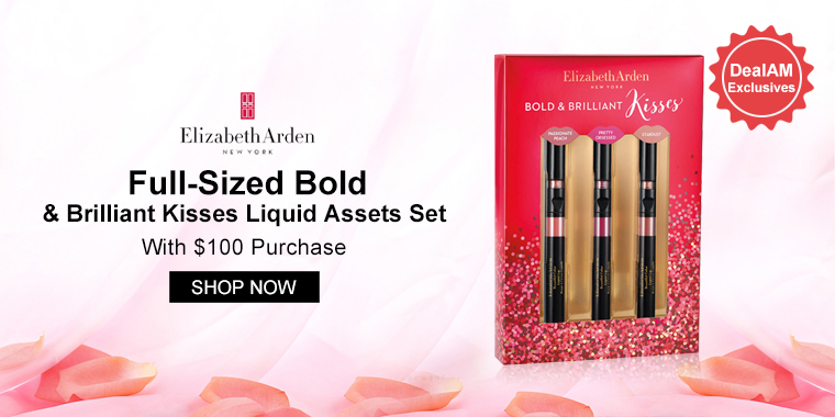 Elizabeth Arden: Full-Sized Bold & Brilliant Kisses Liquid Assets Set With $100 Purchase
