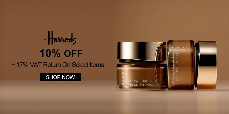 Harrods: 10% OFF + 17% VAT Return On Select Items