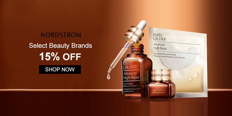 Nordstrom: Select Beauty Brands 15% OFF