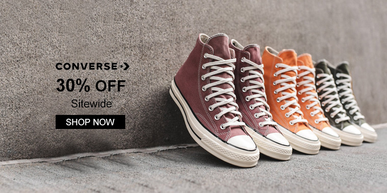 Converse: 30% OFF Sitewide