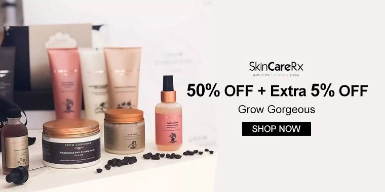 SkinCareRx: 50% OFF + Extra 5% OFF Grow Gorgeous