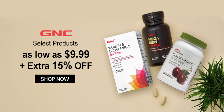 GNC: Select Products as low as $9.99 + Extra 15% OFF