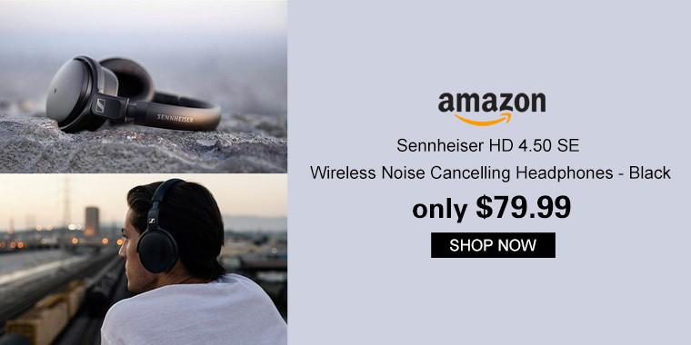 Sennheiser HD 4.50 SE Wireless Noise Cancelling Headphones - Black (Amazon Exclusive)