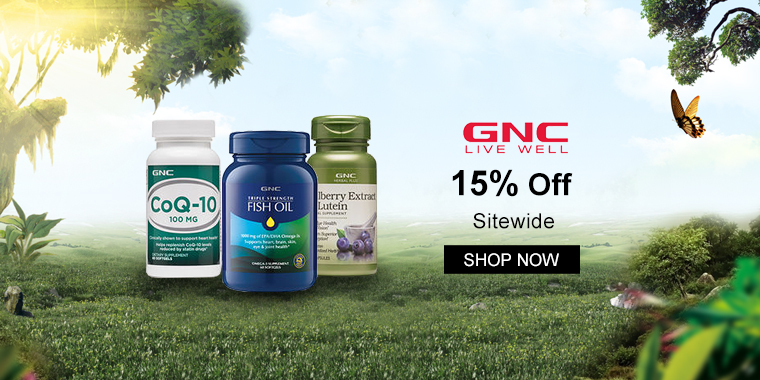 GNC: 15% OFF Sitewide