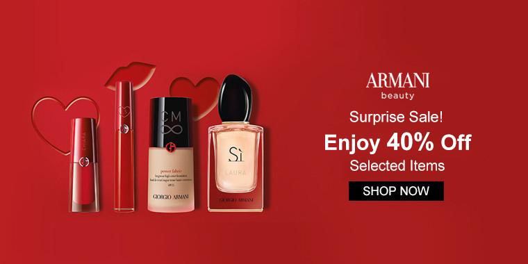 Giorgio Armani: Surprise Sale! Enjoy 40% Off Selected Items